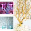 30'' Metallic Gold Manzanita Centerpiece Tree | 8 PCS Acrylic Chain