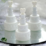 Wholesale White Cake Heart Bubbles Wedding Bridal Favor - 24/pk