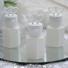 Wholesale White Double Heart Bubbles Wedding Bridal Favor - 24/pk