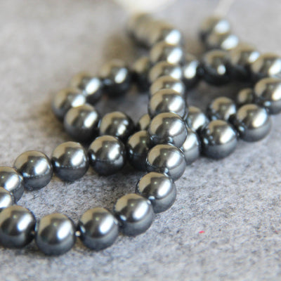 10 Pack | 8mm Large Silver Faux Pearl Beads