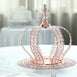 "14"" Rose Gold Crystal Metallic Royal Crown Cake Topper - Fillable Cake Crown Centerpiece"