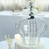 "14"" Silver Crystal Metallic Royal Crown Cake Topper - Fillable Cake Crown Centerpiece"