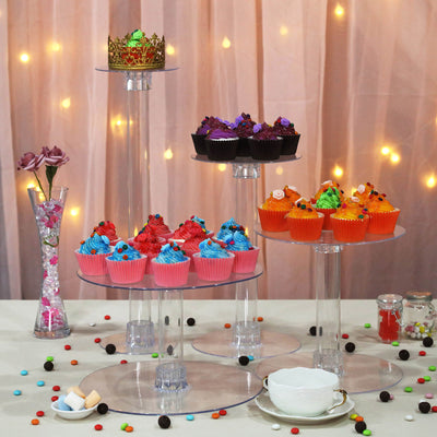 4 Tier Clear Acrylic Cupcake Cake Stand