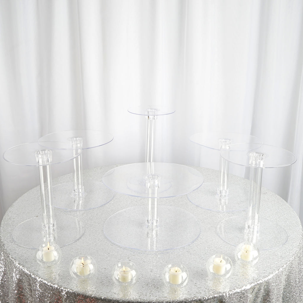 6 Tier Clear Acrylic Cupcake Cake Stand Efavormart