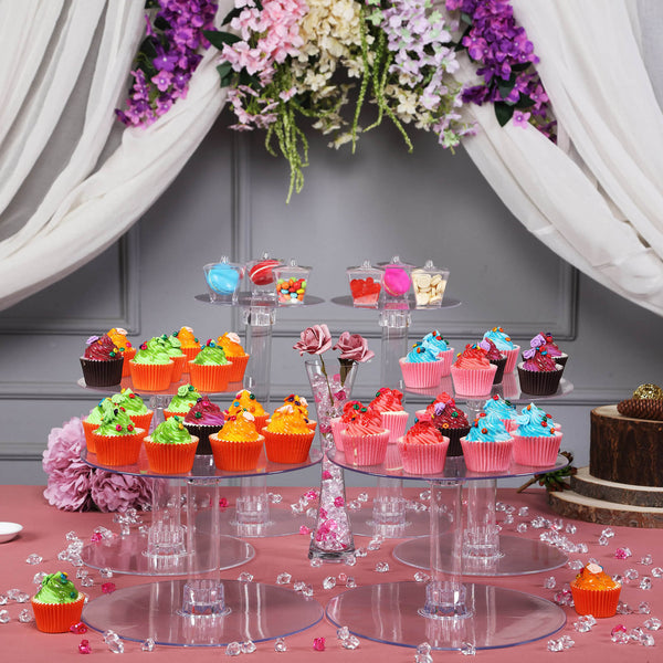 7 Tier Clear Acrylic Cupcake Cake Stand