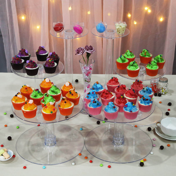 7 Tier Clear Acrylic Cupcake Cake Stand Efavormart