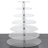 "7 Tier Acrylic Round Cupcake Stand | 25"" Height 