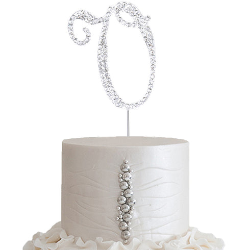 "2.5"" Bedazzling Rhinestone Letter Cake Toppers"