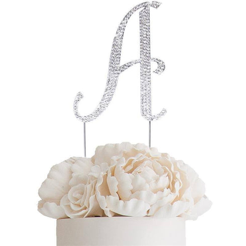 "4.5"" Bedazzling Rhinestone Letter Cake Toppers"