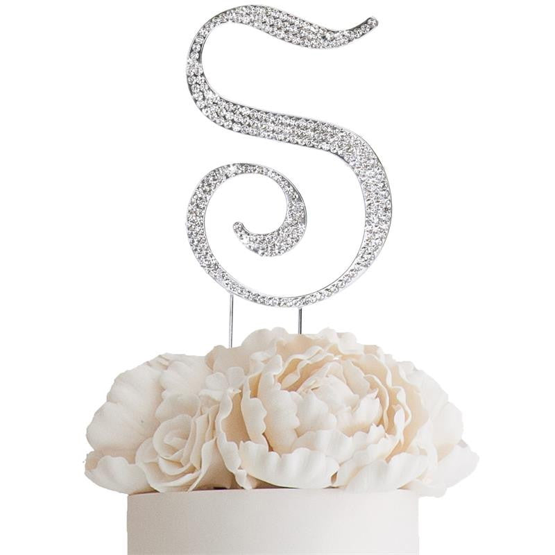 Rhinestone Letter M Cake Toppers