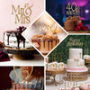 "8"" Mr & Mrs Gold Rhinestone Cake Topper"