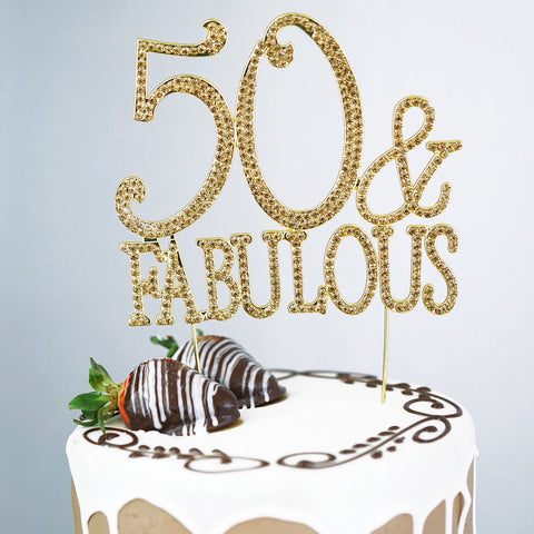 Large Gold 50 Cake Topper The Best Cake Of 2018