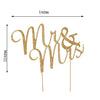 "3"" Mr & Mrs Gold Rhinestone Cake Topper"