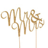 "3"" Mr & Mrs Gold Rhinestone Wedding Cake Topper"