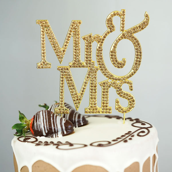 Metallic And Crystal Cake Topper