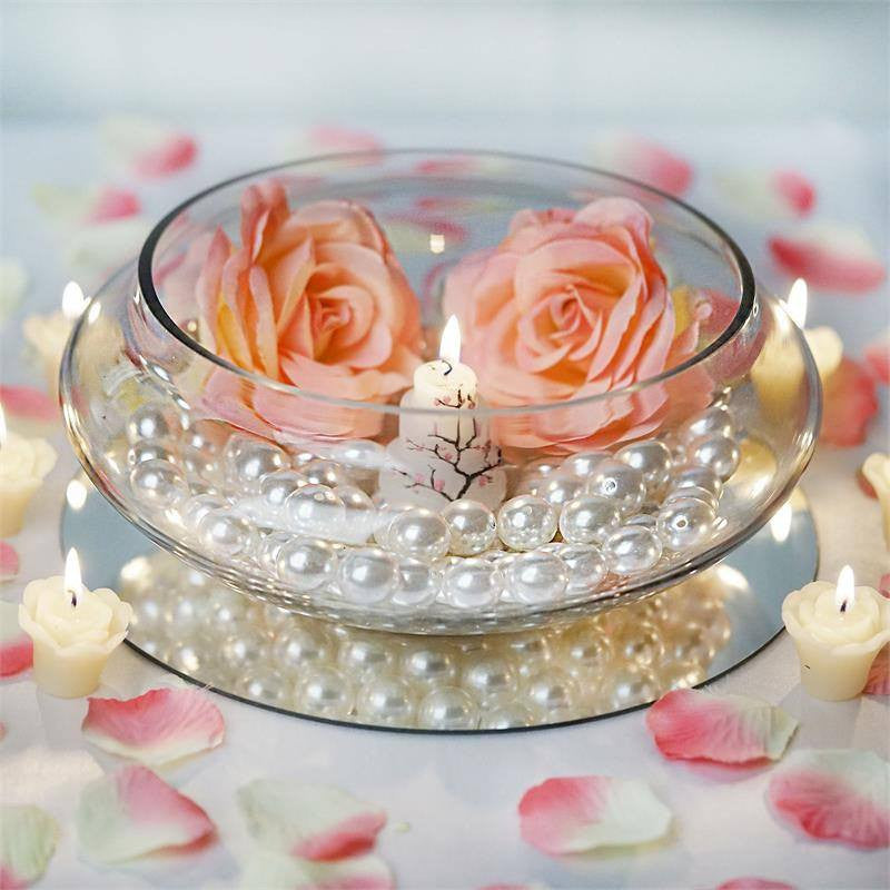 "Flowers With Floating Candle Centerpieces: 10"" Floating Candle Glass Bowls"