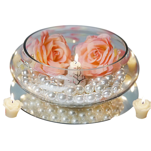 """10"""" Floating Candle Glass Bowls"""