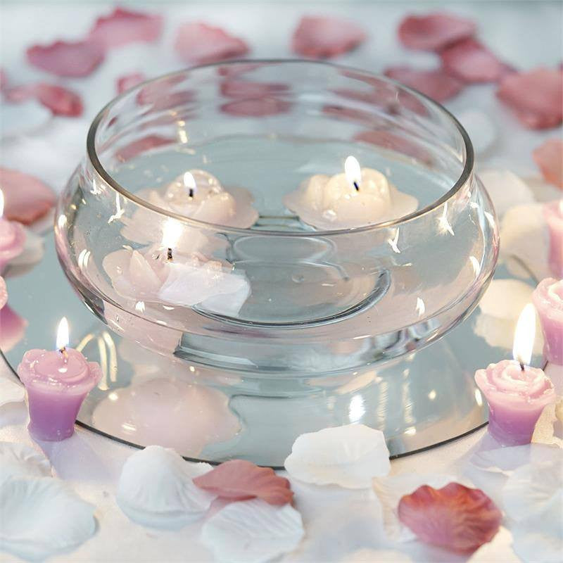 """Shinny Floating Centerpiece: Floating Candle Bowl - 7"""""""