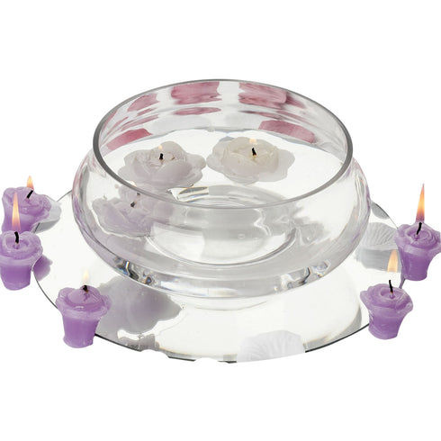 "7"" Decorating Floating Candle Glass Bowls"
