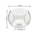 6 Pack - 2.5'' Crystal Clear Glass Globe Votive Candle Holder Set