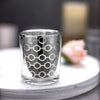 6 Pack | Silver Mercury Glass Votive Candle Holders, Honeycomb Design Tealight Holders | eFavormart