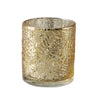 6 Pack | Gold Mercury Glass Candle Holders, Votive Tealight Holders With Palm Leaf Design #whtbkgd