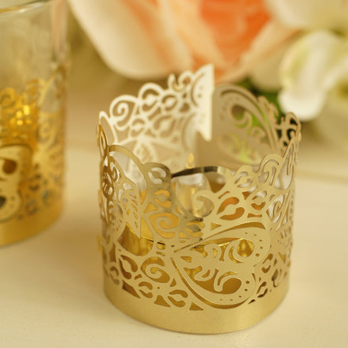 Laser Cut Candle Wraps, Paper Candle Holders