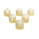 20 Pcs - Gold Laser Cut Candle Decorative Wraps, Votive and Tea Light Holder Foil Wraps