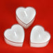 12 Pack White Heart Shaped Tea Light Candles