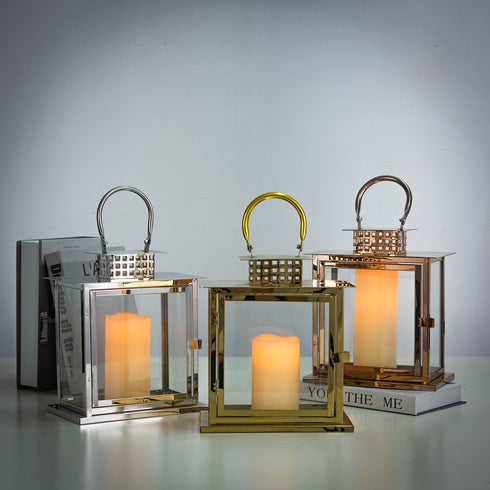 Metal Lantern Centerpieces, Outdoor Candle Lanterns