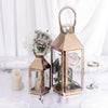 "8""Metal Lantern Centerpieces, Outdoor Candle Lanterns"
