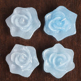 Blue Floating Rose Candle-4pk
