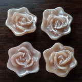 Dusty Rose Floating Rose Candle-4/pk