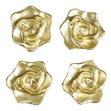 Rose Floating Candles  - Gold - 4pcs