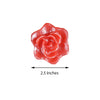 Pack of 4 - Red Rose Flower Floating Candles