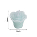 "12 Pack | 1"" Blue Mini Rose Flower Floating Candles"