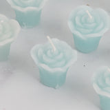Mini Floating Rose Candle Blue-12/pk