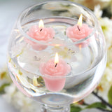 12 PCS Pink Rose Mini Floating Candles Wedding Birthday Party Centerpiece Decor( Sold Out )