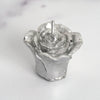 Rose Mini Floating Candles  - Silver - 12pcs
