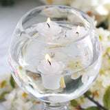 12 PCS White Rose Mini Floating Candles Wedding Birthday Party Centerpiece Decor