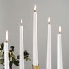 "10"" Premium Dripless Unscented Taper Chandelier Candles Party Decor - 12pcs - White"