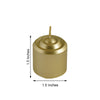 "12 Pack - 1.5"" Gold Dripless Unscented Votive Candles - Long Lasting Candle"