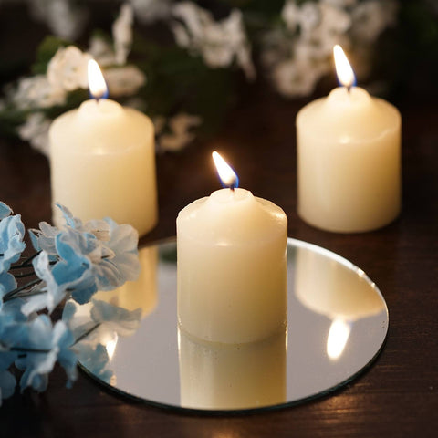Ivory Votive Candles-12/pk