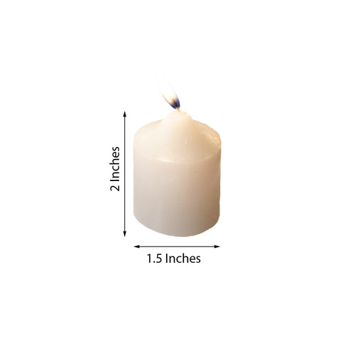 "Pack of 12 - 2"" White Votive Candles"