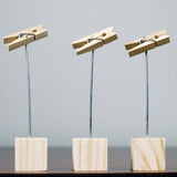 12 Pack Wooden Clip Place Card Table Menu Number Holder