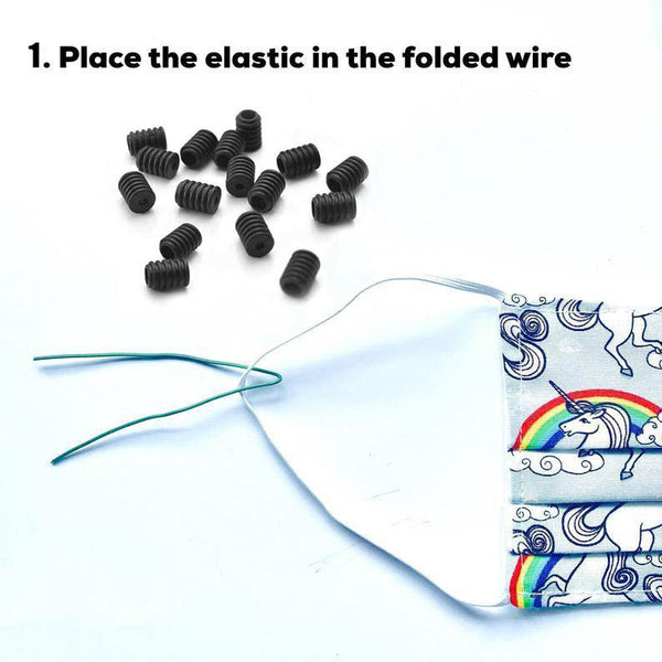 50 Pack Black Cord Locks Silicone Toggles Elastic Cord Adjuster