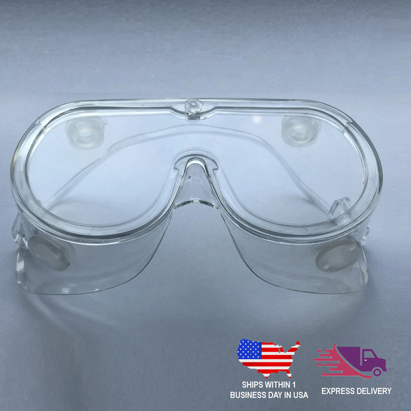 Adjustable Protective Goggles - Safety Goggles Eyewear With Anti Fog Coating & Air Vents