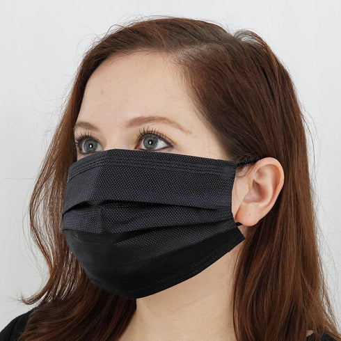 3 Ply Black Protective Sanitary Disposable Face Mask with Ear Loop
