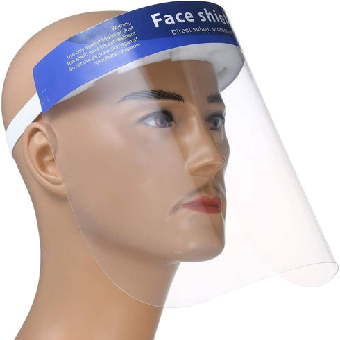 Protective Face Shield Mask with Elastic Band and Comfort Sponge - Protects from Sneezing, Splash, Droplets