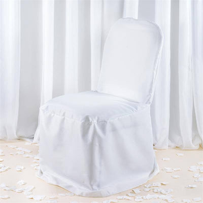 Premium Banquet Chair Cover - White